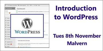 Introduction to WordPress - a Small Business Clinic workshop on 8th November 2016 at Open Space Rooms Malvern