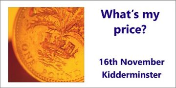 What's my Price - a Small Business Clinic workshop in Kidderminster 16th November 2106
